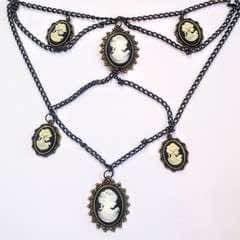 Cameo Waterfall Necklace