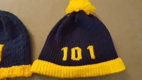 Fallout hat for beginners .  Free tutorial with pictures on how to knit  in 5 steps using knitting loom, loom hook, and knitting yarn. Inspired by geeky, loom work, and fallout. How To posted by Jennifer H.  in the Yarncraft section Difficulty: Simple. Cost: No cost.