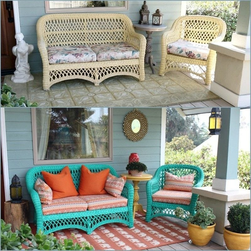 How To Recover Outdoor Cushions Make Your Own REVERSIBLE Patio Chair Cushions