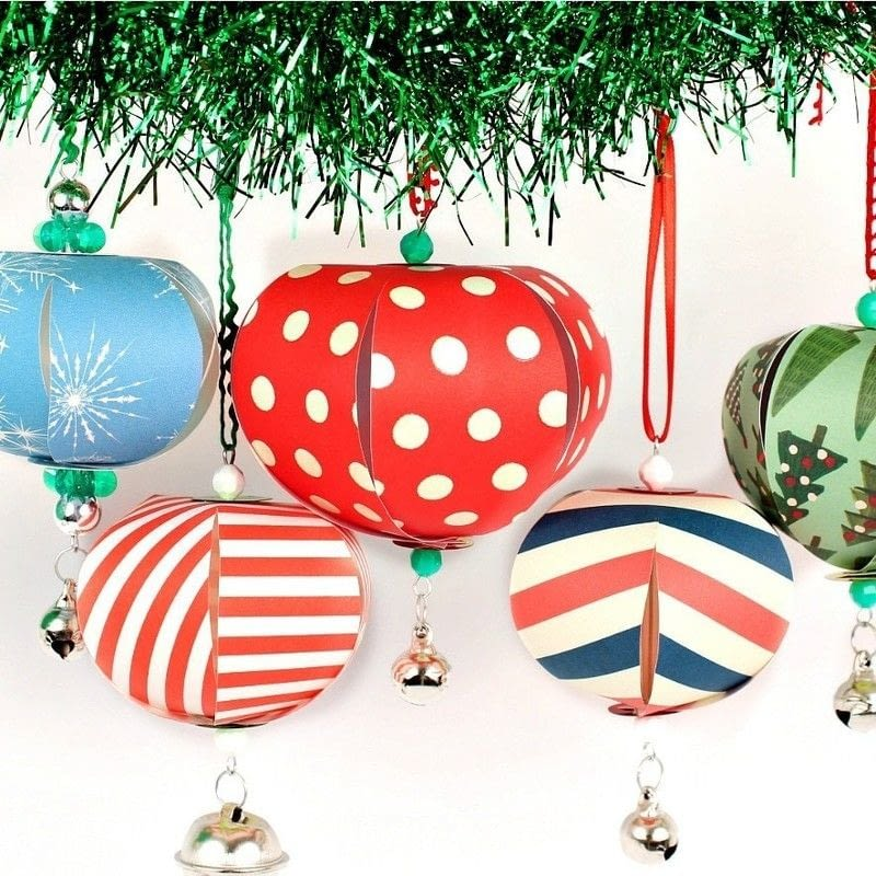 Paper Christmas Ornaments · How To Make A Piece Of Paper