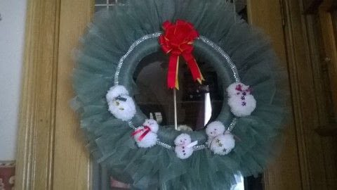 .  Free tutorial with pictures on how to make a wreath in under 180 minutes by decorating, sewing, yarncrafting, and hand sewing with organza fabric, ring, and ribbons. How To posted by Super Madcow.  in the Recipes section Difficulty: Easy. Cost: 3/5. Steps: 7