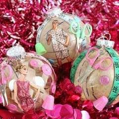 Vintage Sewing Ornaments