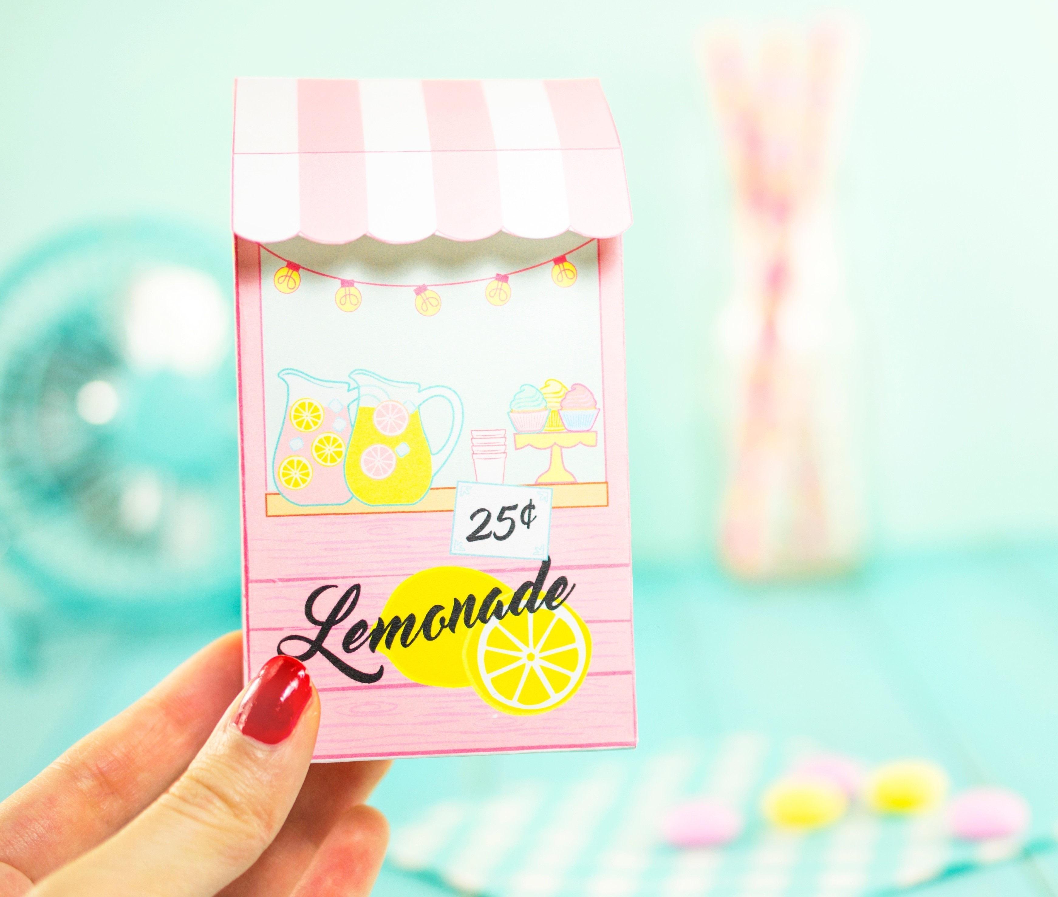 diy printable lemonade stand favor box  u00b7 how to make a