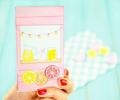 Diy Printable Lemonade Stand Favor Box 183 How To Make A