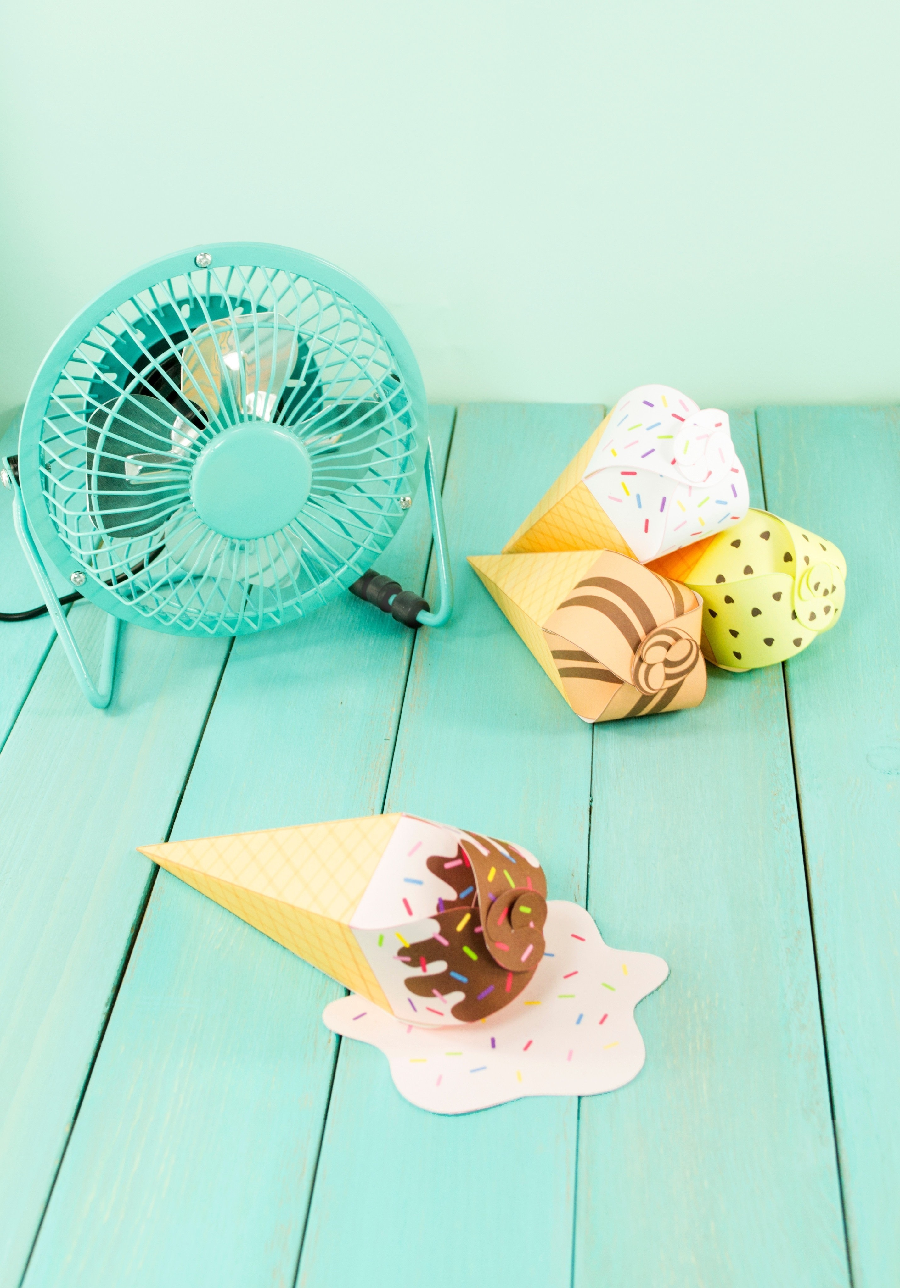 Diy Printable Ice Cream Cone Favors How To Cut A Piece Of