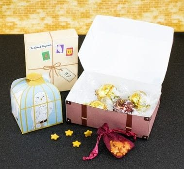 DIY Printable Harry Potter Inspired Gift Boxes .  Free tutorial with pictures on how to make a paper box in under 35 minutes Inspired by birthdays, harry potter, and witches & wizards. How To posted by Alle C.  in the Papercraft section Difficulty: Easy. Cost: No cost. Steps: 4