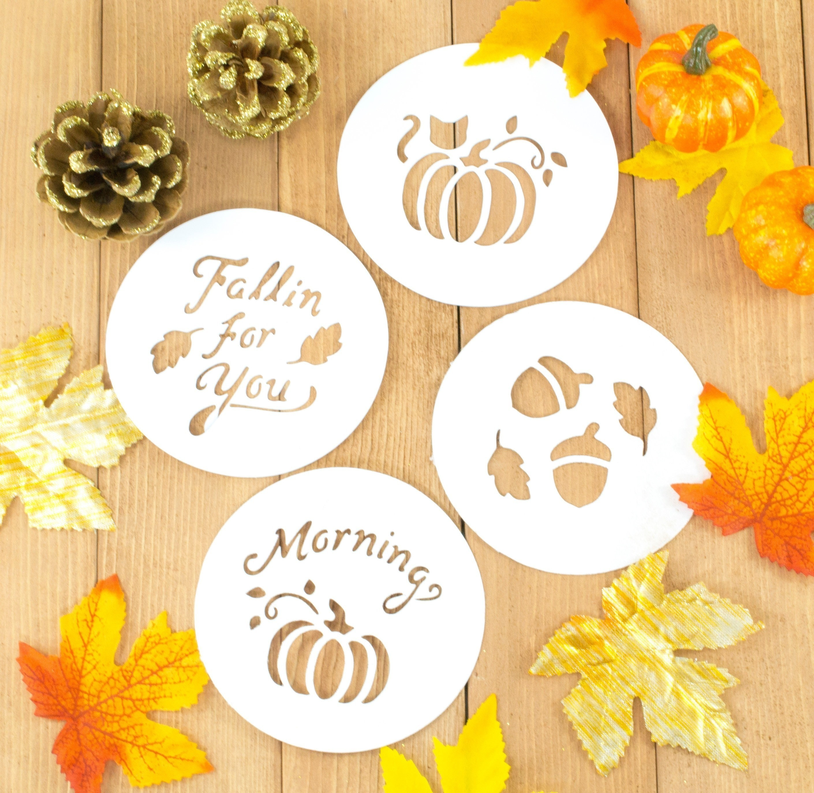 Diy Fall Latte Art Stencils 183 How To Make A Stencil 183 Papercraft On Cut Out Keep