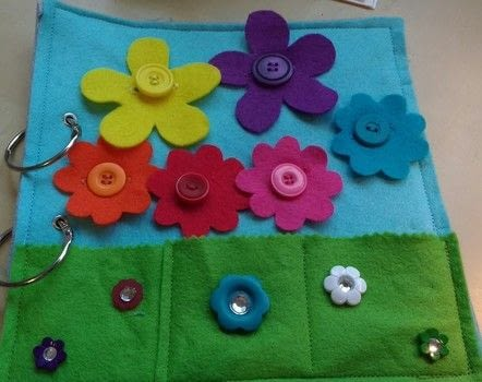 Colour matching activity page .  Free tutorial with pictures on how to make a play book in 7 steps by machine sewing with fabric, felt, and sewing machine. How To posted by Gemma T.  in the Sewing section Difficulty: 3/5. Cost: Cheap.