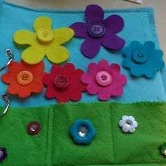 Button Flower Quiet Book Page