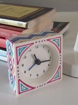 Learn how to easily jazz up a plain white Ikea alarm clock. .  Free tutorial with pictures on how to make a clock in under 20 minutes by drawing Inspired by crafts, homeware, and ikea. How To posted by Queti A.  in the Home + DIY section Difficulty: Easy. Cost: Absolutley free. Steps: 6