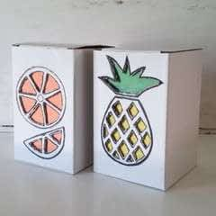 Tropical Fruit Boxes Diy