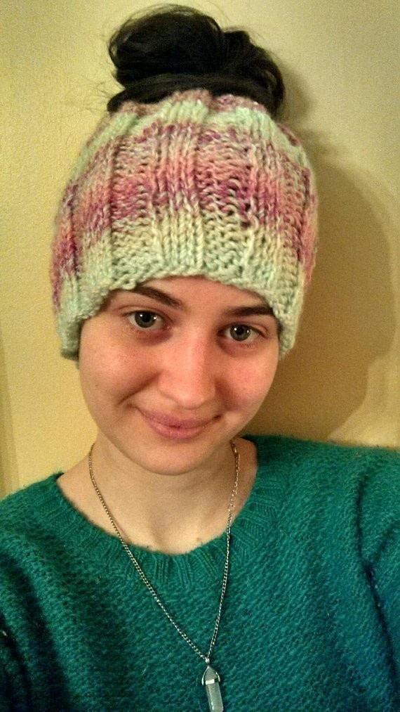 Messy Bun Beanie Hat · How To Make A Beanie · Yarncraft on Cut Out + ... 5a3ae60cf5d