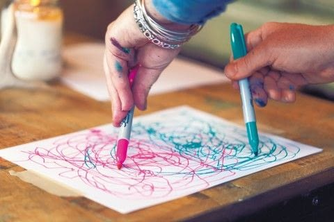 Creative Revolution .  Free tutorial with pictures on how to create a piece of abstract or patterned art in under 15 minutes by creating and drawing with pens. How To posted by Creative Publishing international.  in the Art section Difficulty: Simple. Cost: No cost. Steps: 1