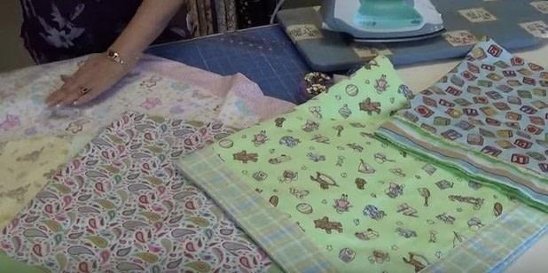 Self Binding Receiving Blanket How To Make A Quilted Blanket Enchanting How To Quilt A Blanket With Sewing Machine
