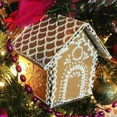 Cardboard Ginger Bread House Ornaments