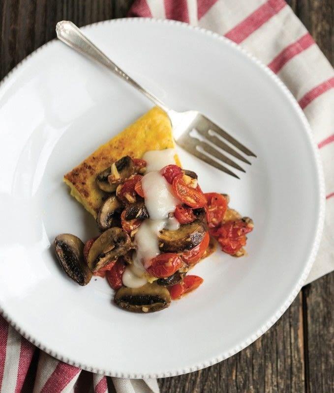 Roasted Mushrooms & Tomatoes On Polenta Slices · Extract from Feeding ...
