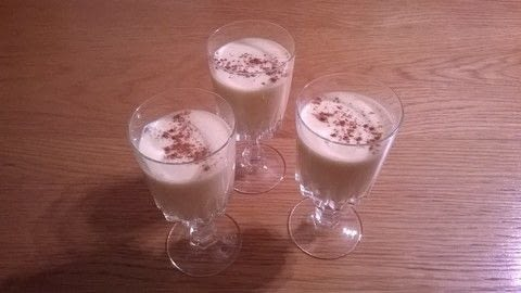 .  Free tutorial with pictures on how to make an eggnog in under 20 minutes by cooking and mixing drinks with egg yolks, sugar, and heavy cream. Recipe posted by Super Madcow.  in the Recipes section Difficulty: Easy. Cost: Cheap. Steps: 6