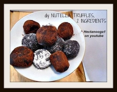 Woo hoo.. no bake, 2 ingredients. 5 minutes to make .  Free tutorial with pictures on how to make a truffle in under 10 minutes using oreos and nutella. Recipe posted by Emi H.  in the Recipes section Difficulty: Easy. Cost: Cheap. Steps: 1