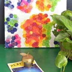 Easy Art Tissue Paper Collage