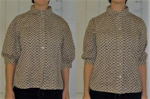 Quick fix for a better fit .  Make a collared top in under 90 minutes using shirt, sewing machine, and pins. Creation posted by Rachel's Craft Channel.  in the Sewing section Difficulty: Easy. Cost: No cost.