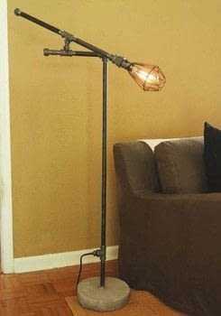 DIY Industrial Pipe Furniture and Decor .  Free tutorial with pictures on how to make a floor lamp in under 120 minutes by metalworking with fittings, buckets, and pipes. How To posted by Ulysses Press.  in the Home + DIY section Difficulty: 4/5. Cost: 3/5. Steps: 37