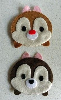 Tsum Tsum Inspired .  Make a placemat in under 120 minutes by hand sewing with felt and embroidery thread. Inspired by disney, animals, and chipmunks. Creation posted by PixieFey.  in the Sewing section Difficulty: Easy. Cost: Cheap.