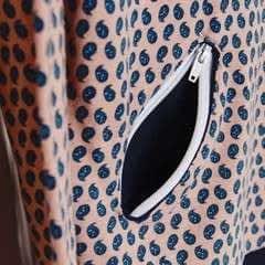 Zippered Angled Pockets