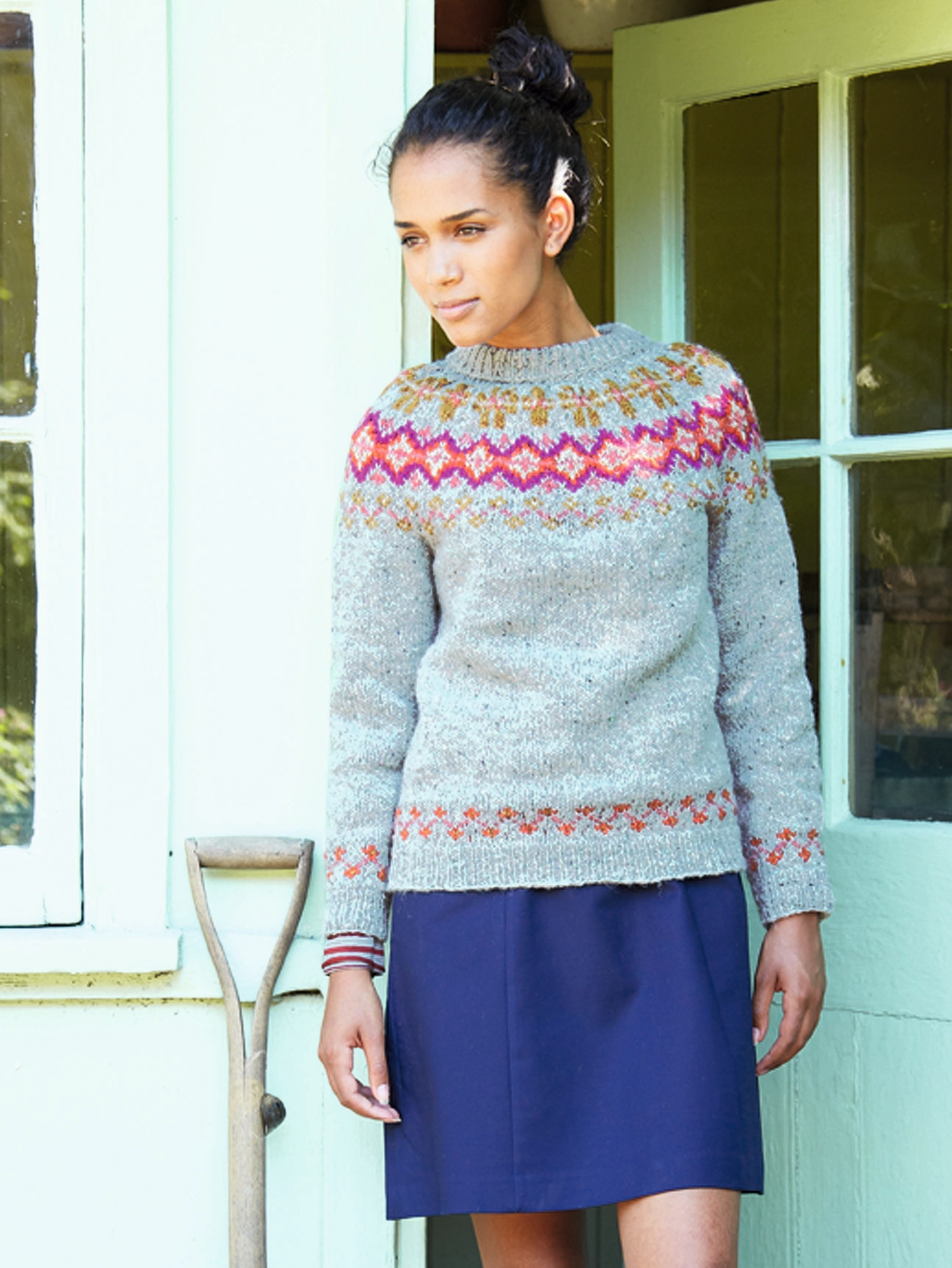 Brights And Tweed Sweater · Extract from Hygge Knits by Nicki Trench ...