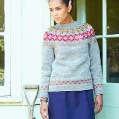 Brights And Tweed Sweater