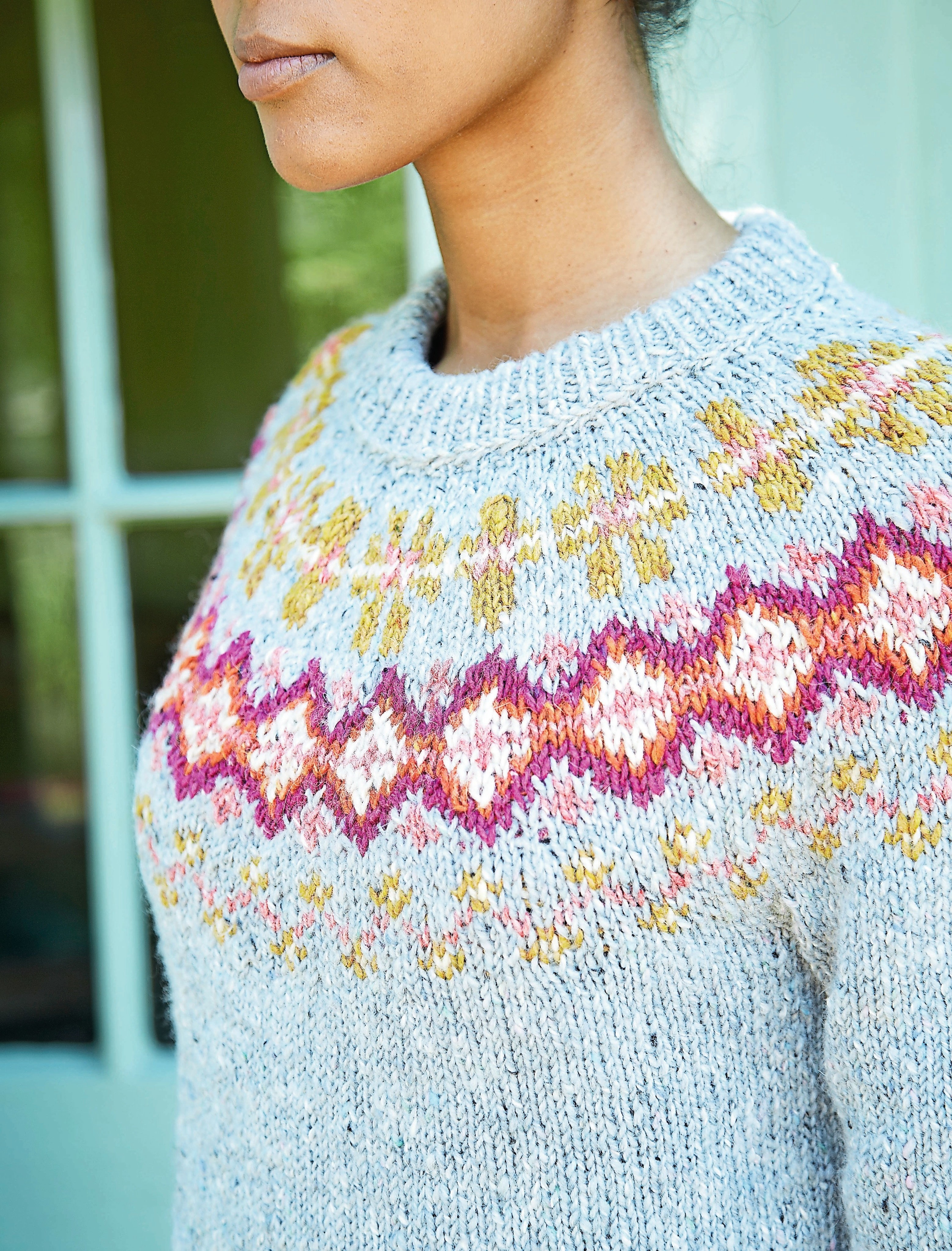 Brights And Tweed Sweater Extract From Hygge Knits By Nicki Trench