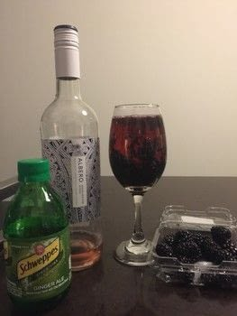 Dress Up That Wine .  Free tutorial with pictures on how to mix a sangria in under 5 minutes by mixing drinks with wine, ginger ale, and blackberries. Recipe posted by Melissa Beth.  in the Recipes section Difficulty: Easy. Cost: Cheap. Steps: 3