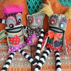 No Sew Monster Dolls