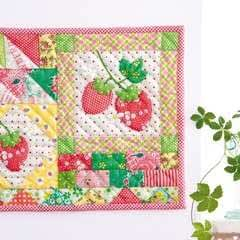 Strawberry Spring Mini Quilt