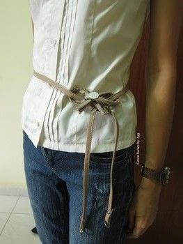 Make your own belt. .  Free tutorial with pictures on how to make a recycled belt in under 120 minutes by sewing with scissors, needle and thread, and bag. How To posted by Agy.  in the Home + DIY section Difficulty: Easy. Cost: Absolutley free. Steps: 3