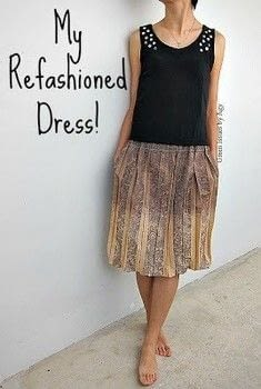 Take a t-shirt and transform it into a dress! .  Free tutorial with pictures on how to sew a t-shirt dress in 3 steps by dressmaking with thread, sewing machine, and scissors. How To posted by Agy.  in the Sewing section Difficulty: 4/5. Cost: Absolutley free.