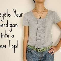 Upcycle Your Cardigan Into A Top