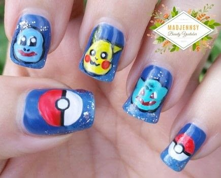 Create a beautiful Pokemon Nail Art .  Free tutorial with pictures on how to paint a nail painting in under 60 minutes using nail polish and paints. Inspired by pokemon. How To posted by Jennifer R.  in the Beauty section Difficulty: 4/5. Cost: Cheap. Steps: 1