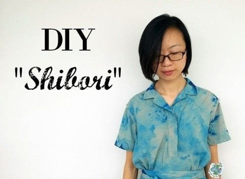 Shibori your dress! .  Free tutorial with pictures on how to dye a dyed dress in 2 steps by dyeing and not sewing with paint, container, and plastic bottle. Inspired by summer holidays. How To posted by Agy.  in the Home + DIY section Difficulty: Easy. Cost: Cheap.