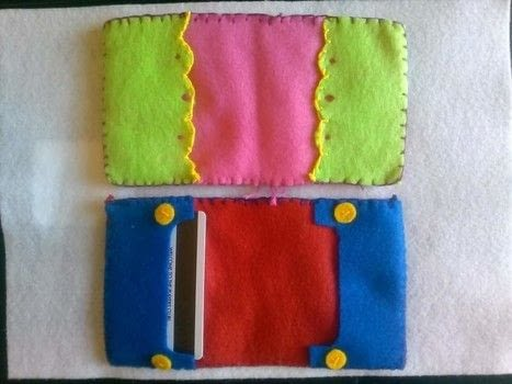 Handsewn felt wallets  .  Sew  in under 120 minutes by creating, needleworking, sewing, and hand sewing with felt, cotton thread, and patience. Inspired by crafts, gameboy, and adventure time. Creation posted by Ziggy S.  in the Needlework section Difficulty: Simple. Cost: Absolutley free.
