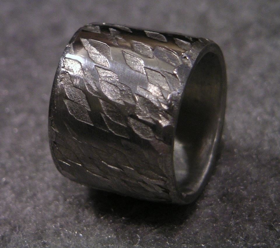 Soldering A Textured Pewter Ring · How To Make Jewelry · Jewelry on ...