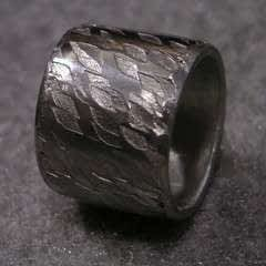 Soldering A Textured Pewter Ring