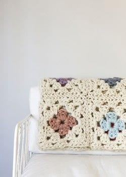 Crochet a Granny Square Blanket with Purl Soho .  Free tutorial with pictures on how to crochet a granny square blanket in 4 steps by crocheting with yarn and crochet hook. How To posted by Shop Showcase.  in the Yarncraft section Difficulty: 3/5. Cost: Cheap.