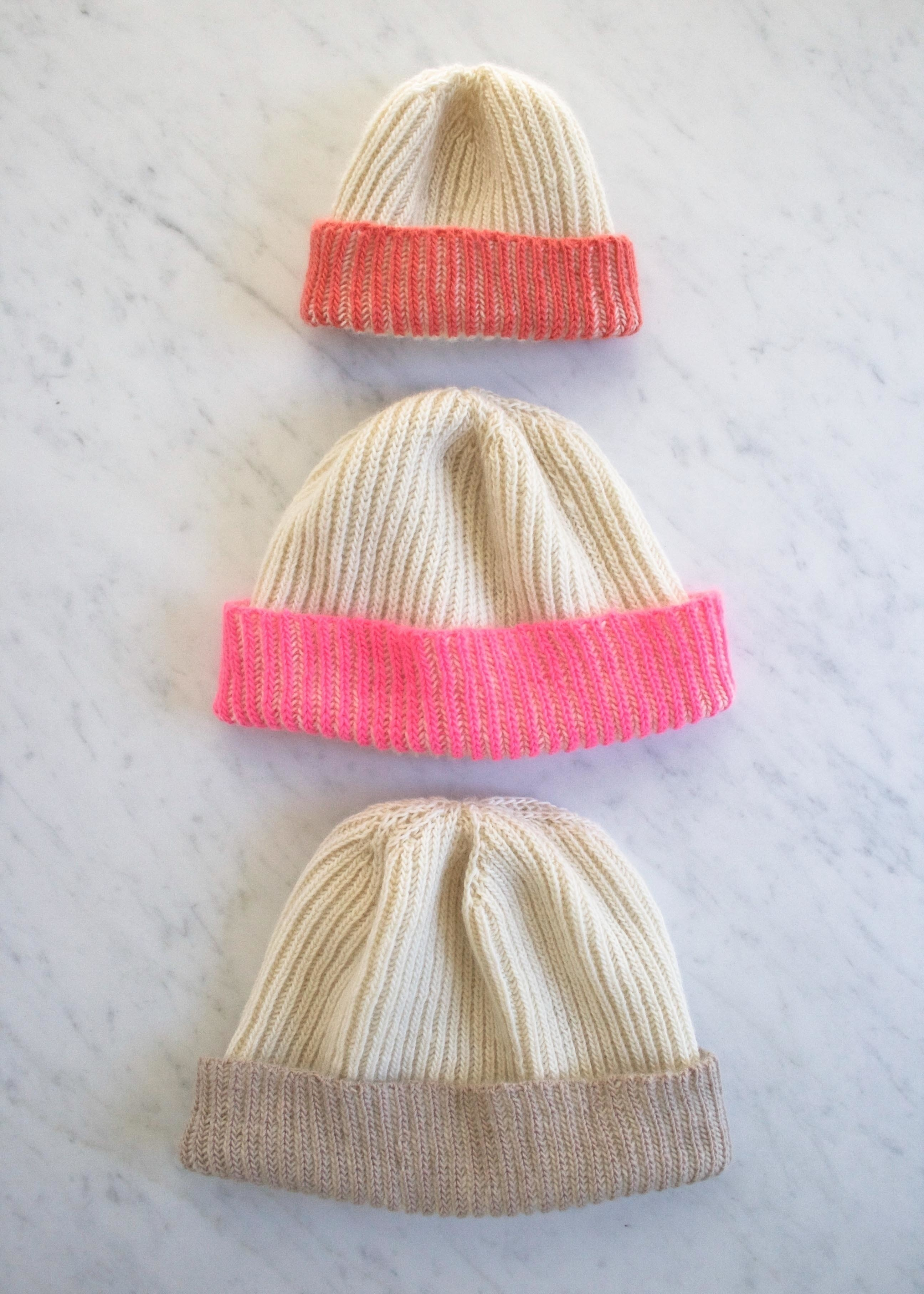 ... Knit a Color Dipped Hat with Purl Soho . Free tutorial with pictures on  how to ... 325ce366ea5
