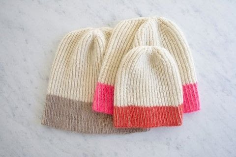 Knit a Color Dipped Hat with Purl Soho .  Free tutorial with pictures on how to make a beanie in 6 steps by knitting with merino, merino, and circular needles. How To posted by Shop Showcase.  in the Yarncraft section Difficulty: 3/5. Cost: 3/5.