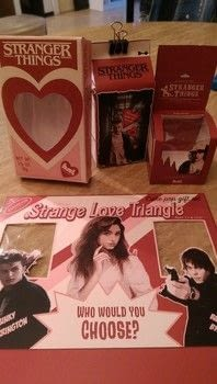 """Be My """"Stranger Things"""" Valentine! .  Free tutorial with pictures on how to make a box in under 120 minutes by papercrafting, paper folding, and paper folding with cardstock, color printer, and white glue. Inspired by gifts, valentine's day, and candy. How To posted by Kepi.  in the Papercraft section Difficulty: Simple. Cost: Absolutley free. Steps: 6"""