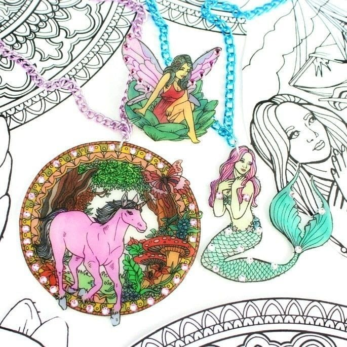 Coloring Book Jewelry Diy · How To Make A Necklace · Jewelry on ...