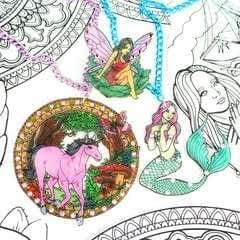Coloring Book Jewelry Diy