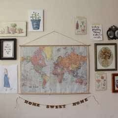 Diy Hanging Vintage School Map