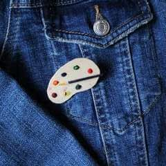 Artists Palette Brooch