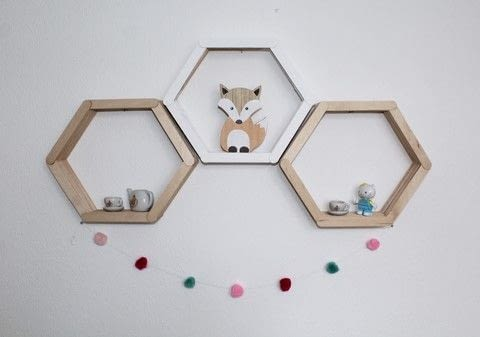 Why not dabble into the Scandinavian trends with this simple honeycomb shelf tutorial! .  Free tutorial with pictures on how to make a shelf in under 20 minutes Inspired by homeware. How To posted by Vintagonista Vintage.  in the Home + DIY section Difficulty: Easy. Cost: Absolutley free. Steps: 4